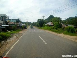 Jalan utaman Labuan Bajo menuju Ruteng