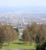 Kassel terlihat dari Monumen Hercules