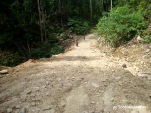 Road to Samares Beach and Samares Blue Lake
