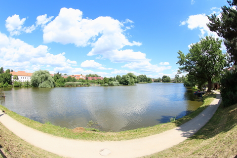 Beautiful Pond in Telc, Czech Republic