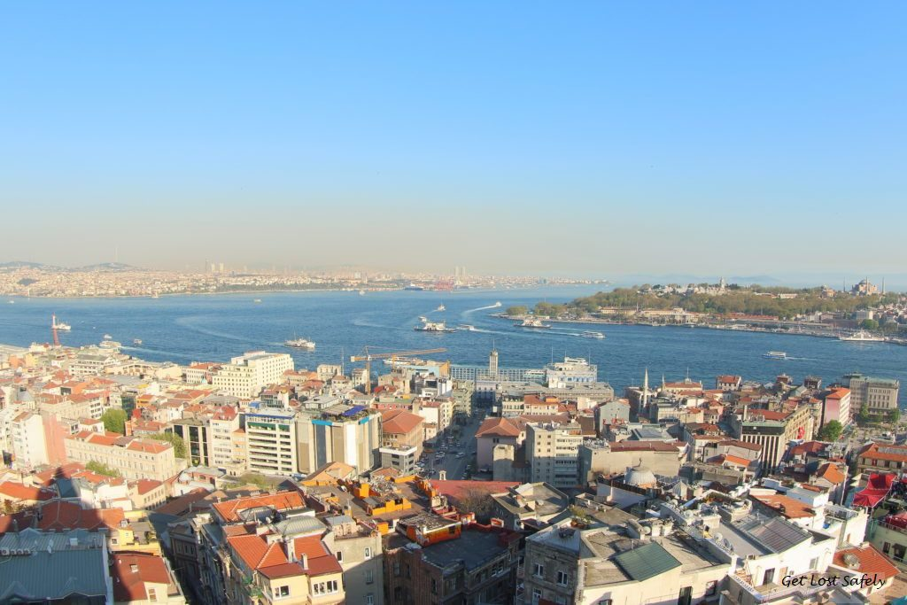 Istanbul City and Bosphorus strait