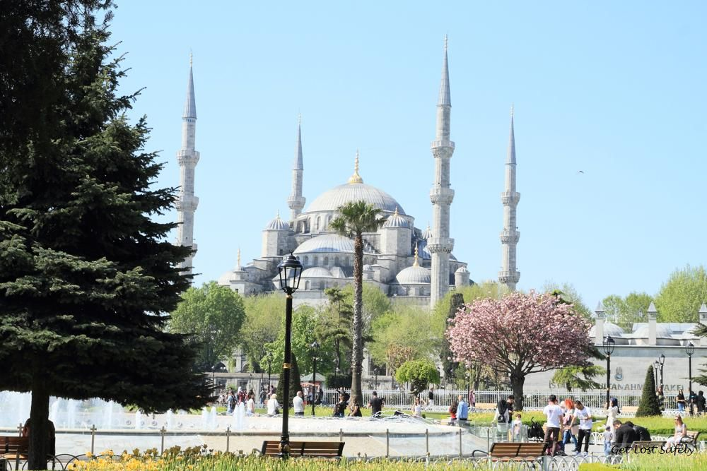 Blue mosque and its minarets