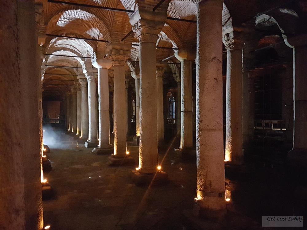 Pillars at Basilica Cistern