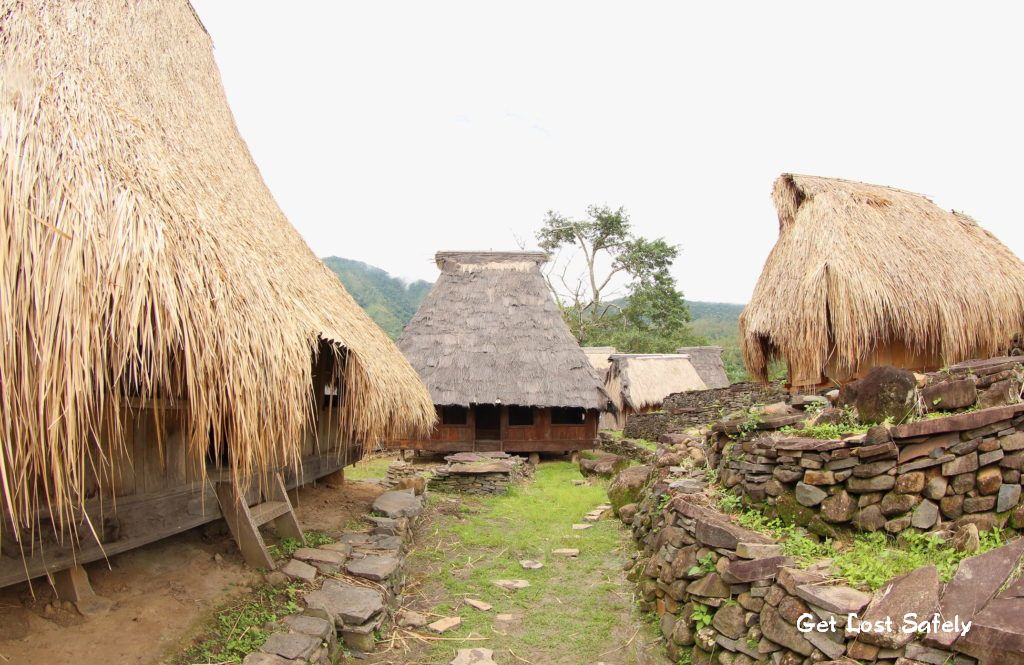 Traditional house in Wologai Traditional Village