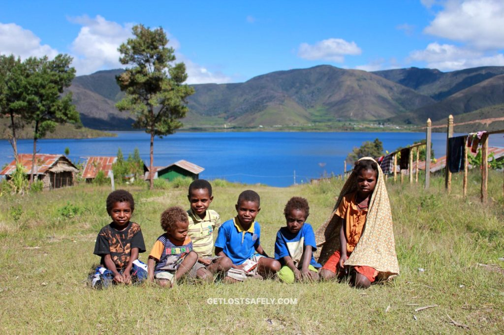 Indigenous kids from Sough Tribe in Arfak Mountains